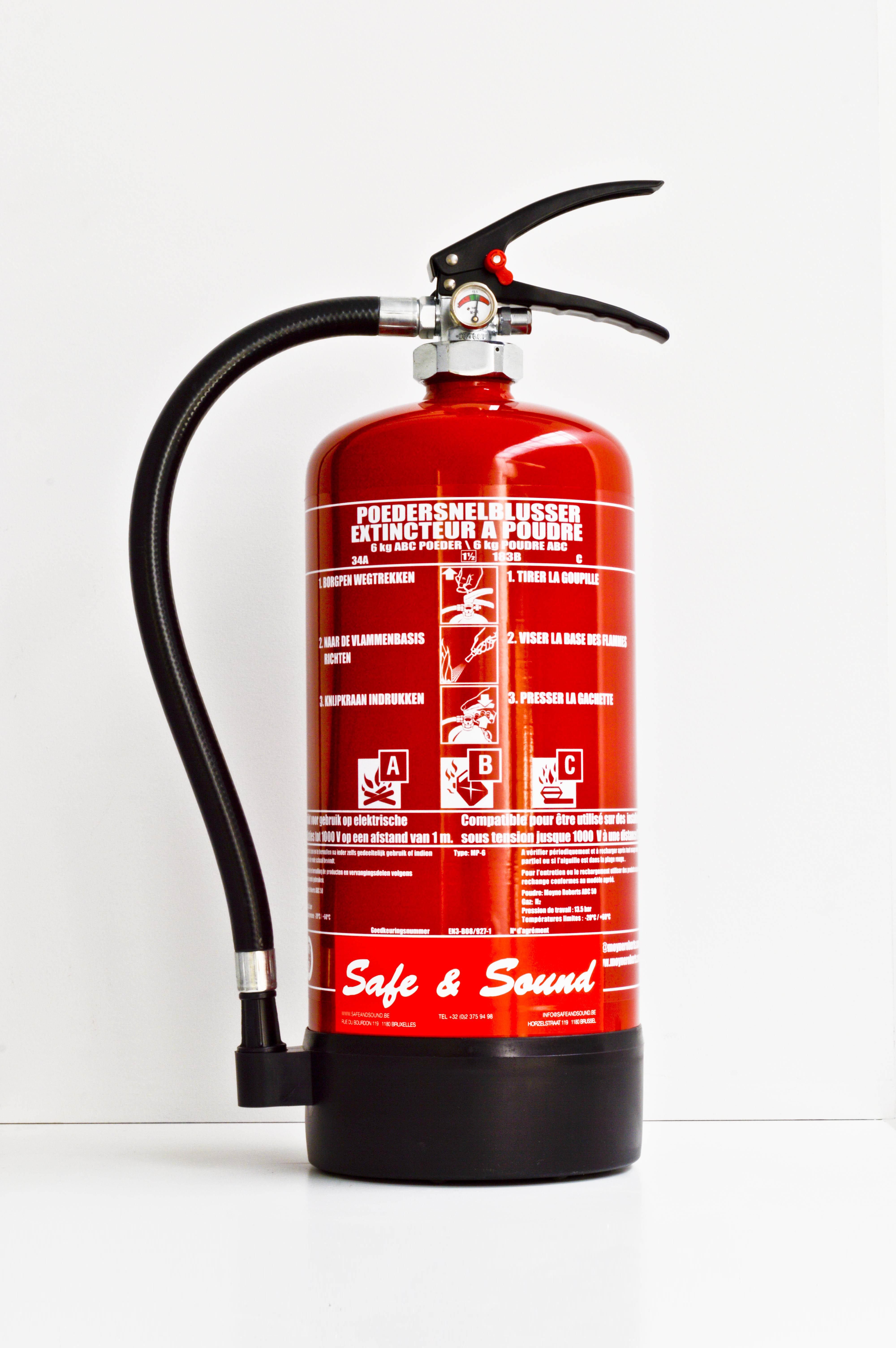 extincteur pour tous les type de feux safe sound. Black Bedroom Furniture Sets. Home Design Ideas